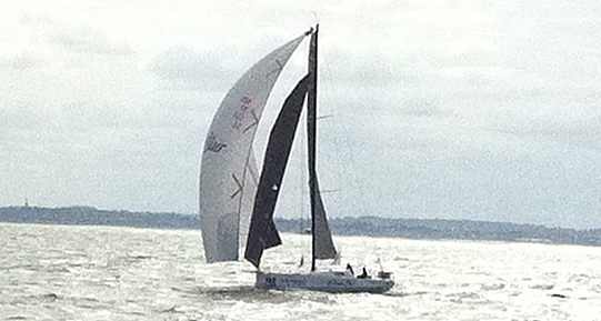 Bodcacious Dream at the start of the Normandy Channel Race