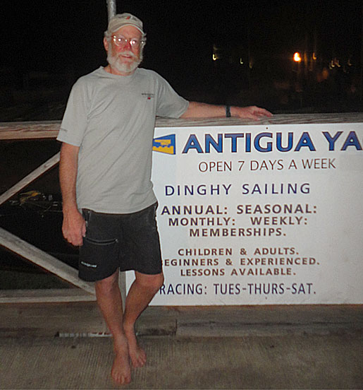 Dave landed in Antigua
